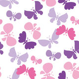 Butterfly seamless vector pattern Stock Photos