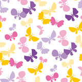 Butterfly seamless vector pattern for surface design. Royalty Free Stock Photography