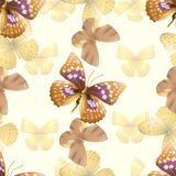 Butterfly seamless yelloy Royalty Free Stock Photo