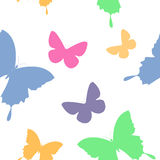 Butterfly second. Butterfly simple seamless pattern in color Stock Photos