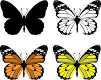 Butterfly set 10 Stock Photos