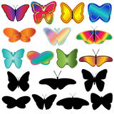 Butterfly Set Stock Photos