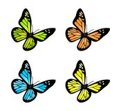 Butterfly set Stock Photos