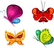 Butterfly set. Vector illustration of a butterfly set Stock Photos
