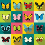 Butterfly set icons Royalty Free Stock Photos
