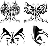 Butterfly set tattoo Royalty Free Stock Photography