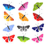 Butterfly set for your design Royalty Free Stock Photography