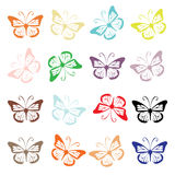 Butterfly set for your design Royalty Free Stock Photos