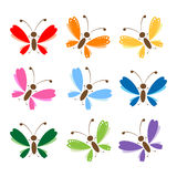 Butterfly set for your design Stock Image