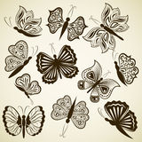 Butterfly shape design elements Royalty Free Stock Photo