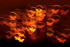 Butterfly shape lights background Royalty Free Stock Photos
