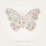 Butterfly shape music color Royalty Free Stock Photography