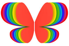 Butterfly shape symbol of rainbow Royalty Free Stock Photo