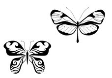 Butterfly shapes stock photo