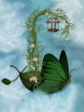 Butterfly ship Royalty Free Stock Image