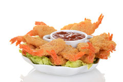 Butterfly shrimp with seafood sauce Royalty Free Stock Images