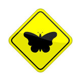 Butterfly sign Stock Photography