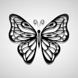 Butterfly silhouette black Stock Images