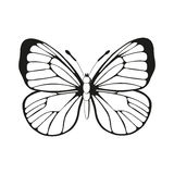 Butterfly. Silhouette butterfly black and white butterfly pattern , butterfly wings Royalty Free Stock Images