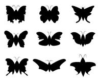 Butterfly Silhouette stock illustration