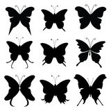 Butterfly silhouette Royalty Free Stock Image