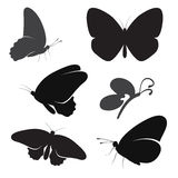 Butterfly silhouette set Royalty Free Stock Images