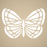 Butterfly silhouette. Tattoo style Stock Photo