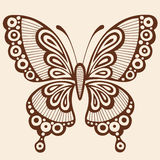 Butterfly Silhouette Vector Design Element Stock Image