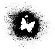 Butterfly silhouette Royalty Free Stock Photo