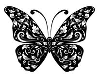 Butterfly silhouette for you design Royalty Free Stock Photo