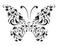 Butterfly silhouette for you design Royalty Free Stock Images