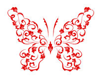 Butterfly silhouette for you design Royalty Free Stock Image
