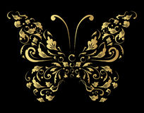Butterfly silhouette for you design Stock Photo