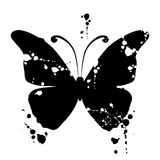 Butterfly silhouette for you design Stock Photography