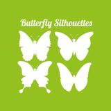 Butterfly silhouettes design Royalty Free Stock Images