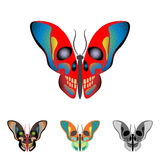 Butterfly with a skull on wings Stock Photo