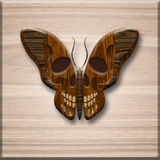 Butterfly with a skull on wings Royalty Free Stock Photos