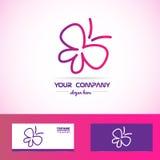 Butterfly spa beauty logo Royalty Free Stock Image