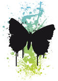Butterfly on a splatter backgr. Ound Illustration Royalty Free Stock Images