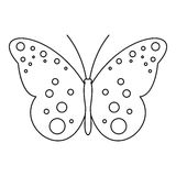Butterfly with spot icon, outline style Royalty Free Stock Images