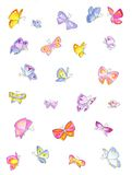 Butterfly spring. Hand drawn of many colourful butterflies. It's very nice Stock Photography