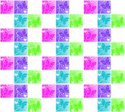 Squares Seamless butterfly pattern background Royalty Free Stock Photography