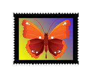 Butterfly stamp illustration Royalty Free Stock Images