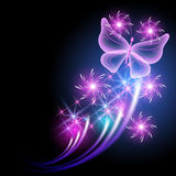 Butterfly and stars Stock Image