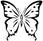 Butterfly (stencil) Stock Photography