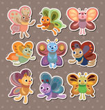 Butterfly stickers Stock Photography