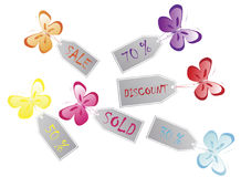 Butterfly stickers Royalty Free Stock Photos