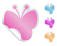 Butterfly Stickers Royalty Free Stock Photography
