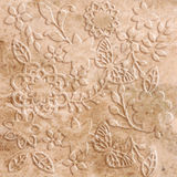 Butterfly stone decor Stock Photos