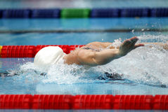 Butterfly style swimmer Stock Photo